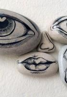 Pareidolia con piedras dibujadas / Stone drawn pareidolia